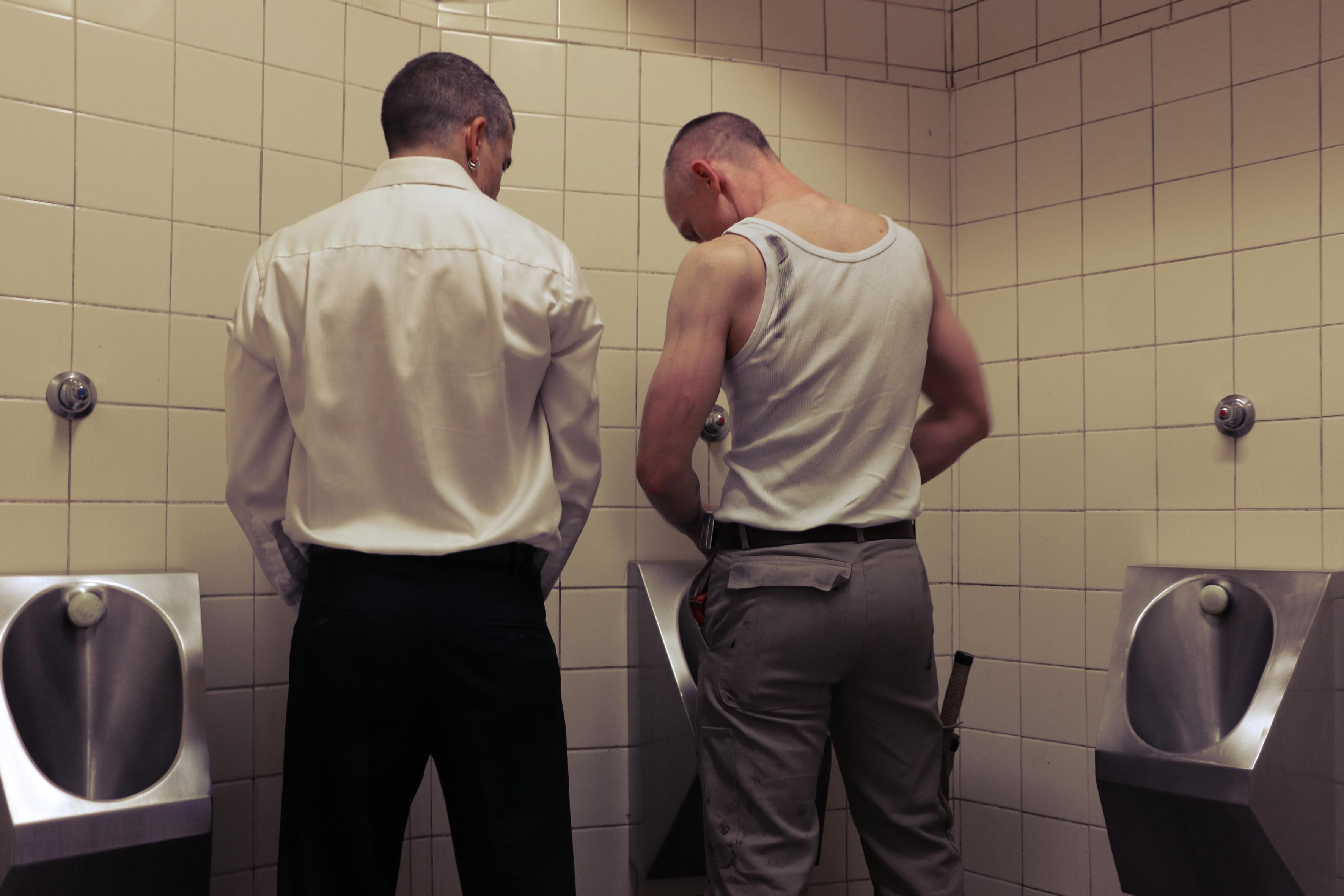 voyer men in shower naked