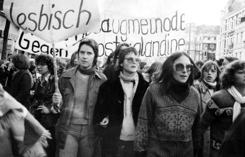 Demonstration gegen § 218, Westberlin, um 1974, Foto: Anke-Rixa Hansen (Vedant)