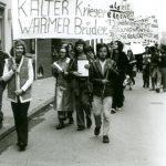 Erste Demonstration homosexueller Emanzipationsgruppen in der BRD, 1972, Münster, Foto:  Uli Plein, Rosa Geschichten. Schwul-lesbisches Archiv Münster