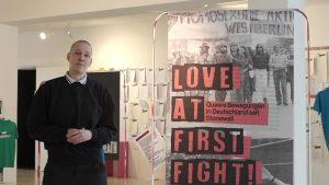 Carina Klugbauer, Kuratorin der Ausstellung ''Love at First Fight! - Queere Bewegungen in Deutschland seit Stonewall''